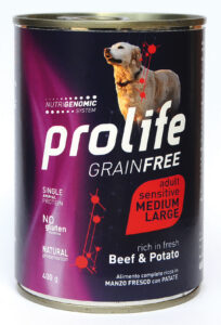 DOG-PROLIFE-WET-GRAINFREE-MEDIUMLARGE-BEEF-&-POTATO---400-gr